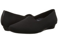 Vionic With Orthaheel Technology Treat Powell Low Wedge Black Stretch Women's Wedge Shoes