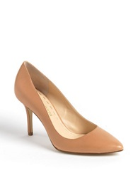 Enzo Angiolini Call Me Leather Pumps Natural