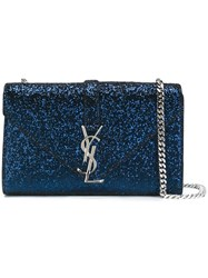 Saint Laurent 'Monogram' Satchel Blue