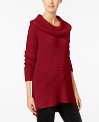 Styleandco. Style Co. Cowl Neck Tunic Sweater Only At Macy's New Red Amore