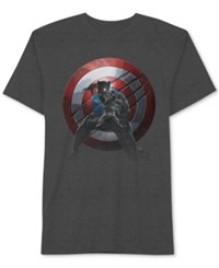 Jem Captain America Men's Panther Vs. T Shirt Charcoal Heather