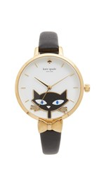 Kate Spade Black Cat Watch Gold