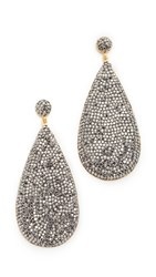 Native Gem Galaxies Teardrop Earrings Gold Black