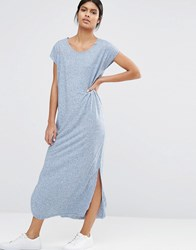 Selected Ivy Ancle Maxi Dress In Jersey Dutch Blue Melange