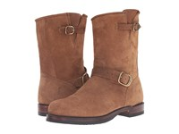 Frye John Addison Engineer Fatigue Waxed Suede Men's Boots Brown