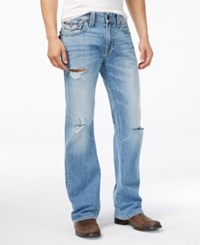 True Religion Men's Old School Billy Bootcut Jeans Rock