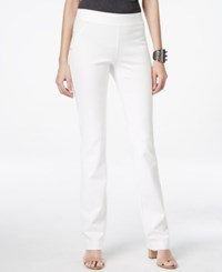 Inc International Concepts Curvy Fit Pull On Straight Leg Pants Washed White