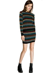 Pixie Market Rainbow Knit Mini Skirt