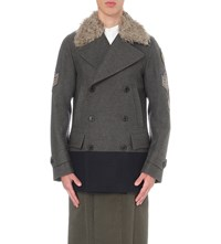 Dries Van Noten Ryanbis Wool Blend Peacoat Grey