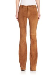 Polo Ralph Lauren Suede Flared Pants Natural Brown