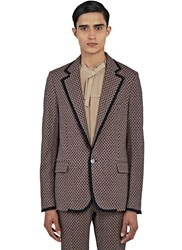 Gucci Tiled Jacquard Blazer Jacket Red