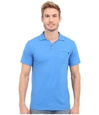 Black Diamond Cottonwood Polo Powell Men's Short Sleeve Pullover Blue