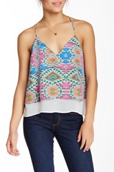Lovers Friends Mosaic Printed Tank
