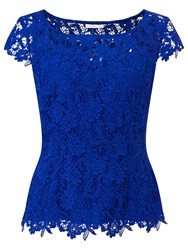 Jacques Vert Sweetheart Lace Top Blue
