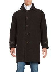 Lauren Ralph Lauren Single Breasted Overcoat Brown Black