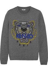 Kenzo Tiger Embroidered Cotton Jersey Sweatshirt