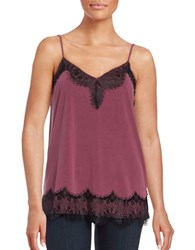 Ella Moss Lace Trimmed Camisole Red