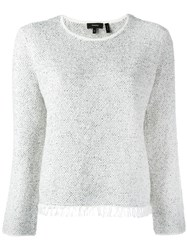 Theory Crew Neck Jumper White