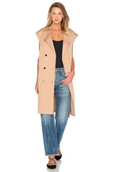 Lucca Couture Trench Vest Tan