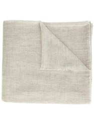 Denis Colomb 'Mustang' Solid Nomad Scarf Grey