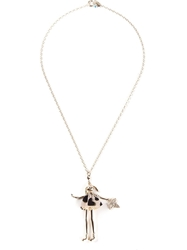 Servane Gaxotte 'Rabbit Doll' Necklace Metallic