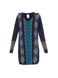 Banjo And Matilda Geometric Intarsia Wool Blend Kaftan