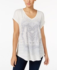 Styleandco. Style Co. Owl Graphic T Shirt Only At Macy's Oatmeal