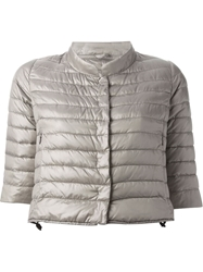 Duvetica Cropped Padded Jacket Nude And Neutrals