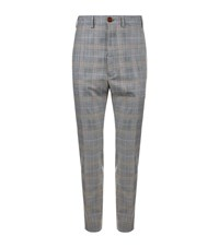 Vivienne Westwood Classic Prince Of Wales Check Trousers Male Light Grey