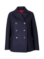 Marc By Marc Jacobs Norman Bonded Wool Peacoat Navy
