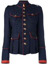 Dsquared2 'Livery Tenent' Military Jacket Blue