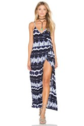Flynn Skye Wrap Around Dress Navy