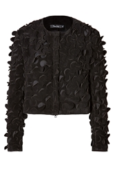 Marios Schwab Suede Jacket With Cutout Detailing
