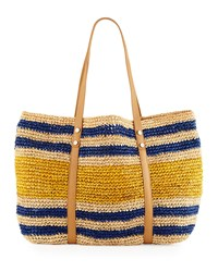 Elaine Turner Designs Elaine Turner Sabine Striped Raffia Tote Bag Sedona