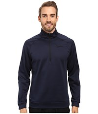 Nike Therma 1 4 Zip Pullover Obsidian Black Men's Clothing