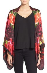 Ted Baker Women's London 'Juxtaposed Rose' Silk Cape