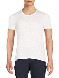 J. Lindeberg Silk Jersey Knit Tee Off White