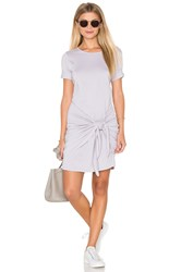 Michael Stars Faux Wrap Tee Dress Gray