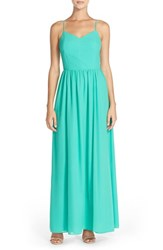 Women's Adelyn Rae Chiffon Fit And Flare Maxi Dress Mint