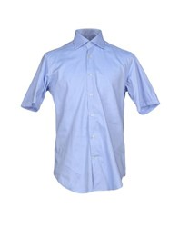 Carlo Pignatelli Shirts Shirts Men Sky Blue