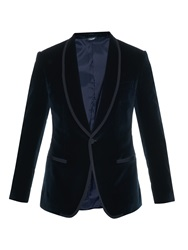 Dolce And Gabbana Shawl Collar Velvet Blazer