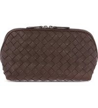 Bottega Veneta Intrecciato Leather Cosmetic Case Ebano