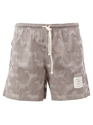 Thom Browne Dachshund Patterned Swimming Trunks Grey