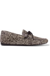 Etoile Isabel Marant Printed Calf Hair Moccassins Black