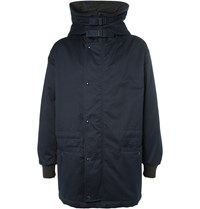 Marni Oversized Cotton Hooded Parka Blue