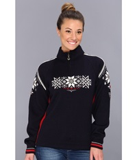Dale Of Norway Holmenkollen Feminine C Navy Raspberry Off White Women's Sweater Black