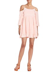 Romeo And Juliet Couture Cold Shoulder Babydoll Dress Pink