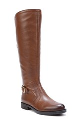 Sarto By Franco Sarto Women's Carlana Riding Boot Brown Leather