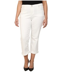 Dkny Plus Size Soho Skinny Rolled Crop In White White Women's Jeans