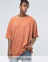 Reclaimed Vintage Super Oversized T Shirt In Overdye Rust Red